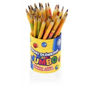 Kredki TĘCZOWE Jumbo...