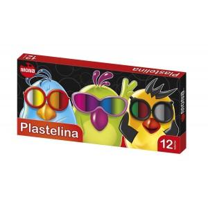 PLASTELINA 12 kolorów MONA