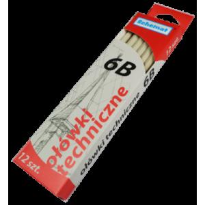 Ołówek techniczny 6B   v