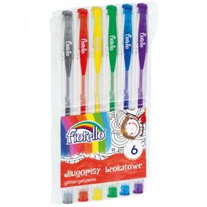 Długopis żelowy brokat 6...