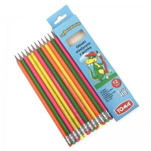 Ołówek HB z gumką żywica STIC