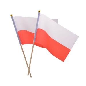 Materiałowa flaga na...