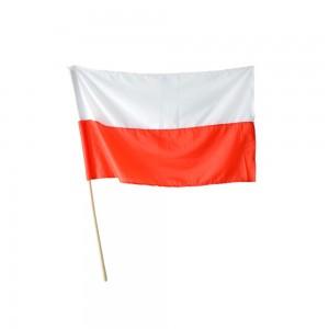 Flaga Narodowa na drzewcu...