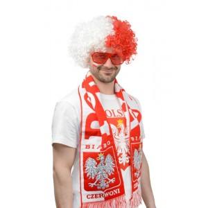 PERUKA Afro Biało-Czerwoni...