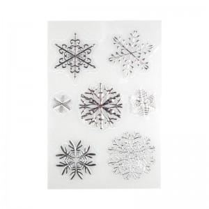 Płatki śniegu - naklejki...