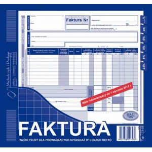Fakura VAT.2/3 A4 M102-2E