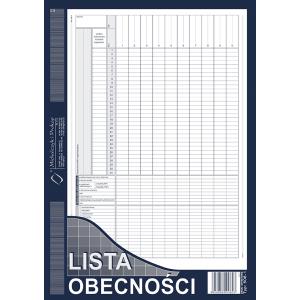 Lista obecności A4 M506-1
